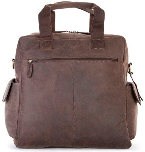 LEABAGS Garland Handtasche aus echtem Büffel-Leder im Vintage Look - Muskat Muskat