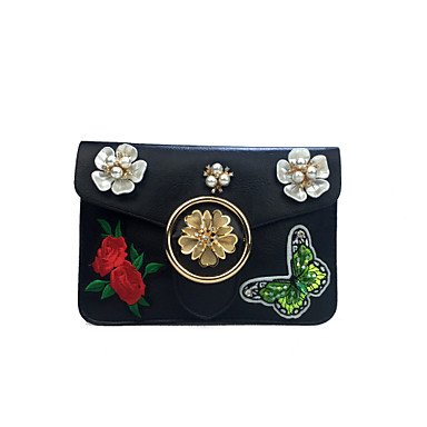 L. in West Woman Fashion Luxus hochwertige dreidimensionale Blumen Diamant Schultertasche White