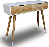 Console en bois-blanc - 100 x 30 x 80 cm-panneau d'appoint schränckchen commode buffet moderne au design style scandinave