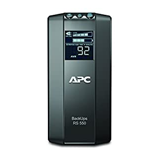 APC Power-Saving Back-UPS PRO - BR550GI - Uninterruptible Power Supply 550VA (AVR, 6 Outlets IEC-C13, USB, Shutdown Software)