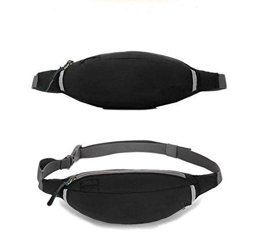 &zhou Kleine Taschen wasserdicht Freizeit für den Einsatz im freien Männer und Frauen kombiniert Geldbörsen Bewegung Schulter Umhängetasche Black