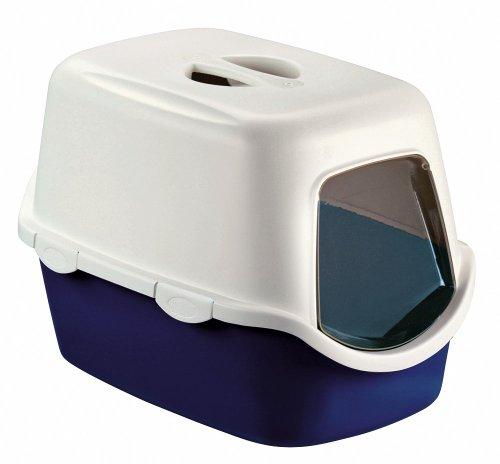 *Stefanplast  CATHY F Katzentoilettenhaus m. Türe+Filter, blau, 56x40x40cm*