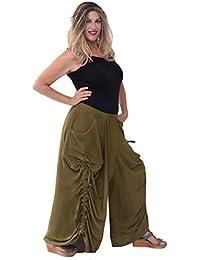 Lotustraders - Pantalón - tiro caído - Efecto teñido - para mujer