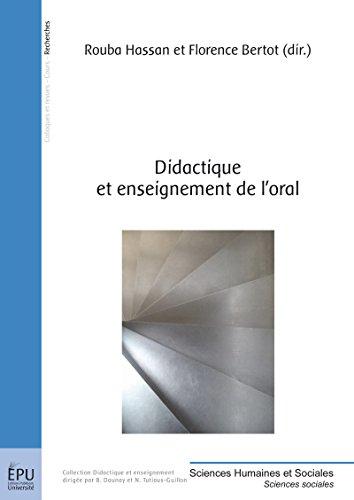 Didactique et enseignement de l'oral