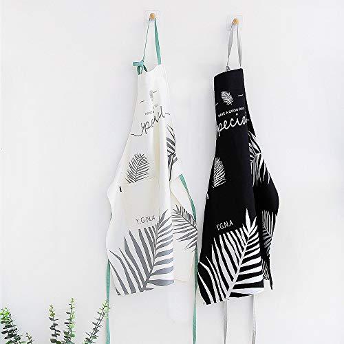 Hhpcspc 2 Teile/LOS Neue Baumwolle Schürze Overalls Shop Kleidung Schwarz Und Weiß Farbe Backen Extra Große Schürze (Color : Random) -