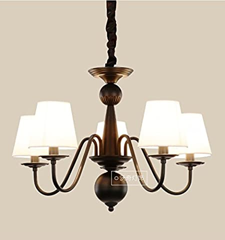 VanMe American Village Wrought Iron Chandelier Ceiling Light Minimalist European