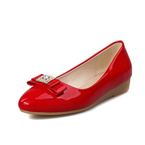 Versione coreana in cunei di primavera e lestate/Strass fiocco testa luce scarpe/nano con le scarpe di donne incinte C