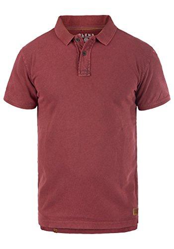 Blend Camper Herren Poloshirt Polohemd T-Shirt Shirt Mit Polokragen Aus 100% Baumwolle, Größe:3XL, Farbe:Rust Red (73830) - 100% Baumwolle Henley