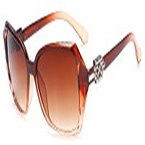 O-C da donna Fashion Big telaio occhiali da sole 60mm marrone Brown