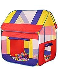 LD-WooHoo Toys Big Kids Playhouse Tente Pop-Up Play, intérieur / extérieur avec des pieux pliable Portable