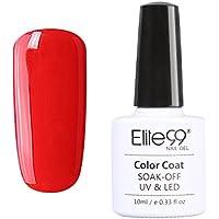 Elite99 Smalto Semipermanente Serie Vino Rosso Colore Gel, Ricostruzione Unghie Arte con Lampada VU/LED, UV LED Soak Off Gel Polish, 12 Colori da Scegliere, Colore 001 - Serie Smalto