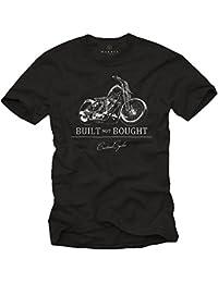 Tee Shirt Moto Vintage BUILT NOT BOUGHT Noir Homme
