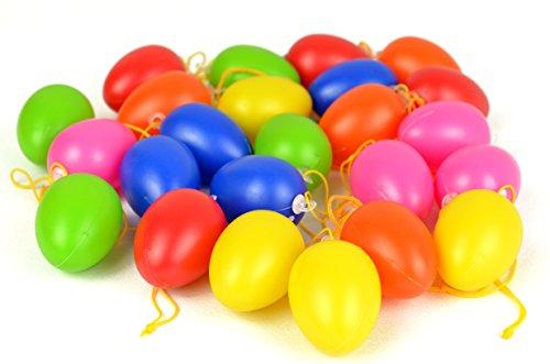 tstoff in vielen Farben | zwei Größen wählbar | mit Schlaufe zum Aufhängen | Bunte Ostereier Osterdeko (Klein) (Bunte Eier)
