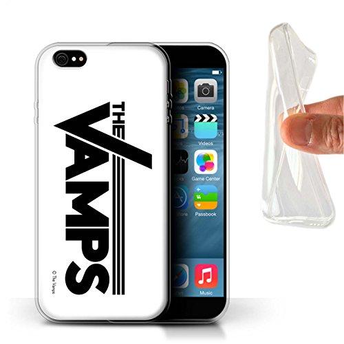 Offiziell The Vamps Hülle / Gel TPU Case für Apple iPhone 6S+/Plus / Weiß/Schwarz Muster / The Vamps Graffiti Band Logo Kollektion Weiß/Schwarz