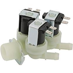 TOPINCN Electrovanne Vanne Electromagnétique 3 Voies Entrée d'eau N/C CA 220V G3 / 4 de l'électrovanne Electrique Fermée Normale
