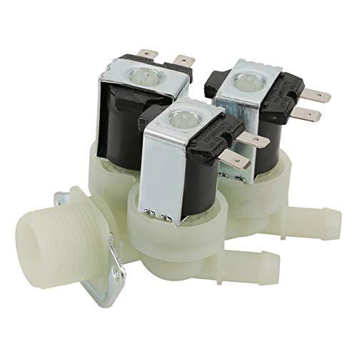 Meiyya Magnetventil, 3-Wege-Wassereinlass N/C Normal geschlossenes elektrisches Magnetventil AC 220V G3/4 -