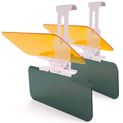 2 x Verlängerung für Auto-Sonnenblende, Auto-Blendschutz, HD-Visier, Monojoy Tag- und Nachtsichtschutz, Blendschutz, Anti-UV-Blendschutz, Verlängerung für Windschutzscheibe