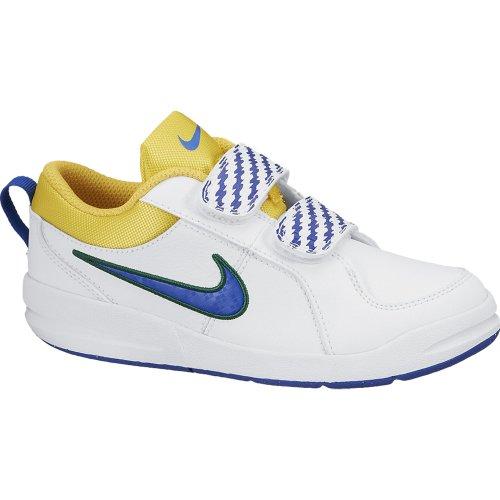 Nike Boy 's Pico 4PSV Fuß tragen Mehrfarbig - White/Blue/Yellow