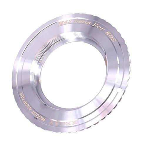 KECAY® Objektiv Mount Adapter Ring Objektiv Adapterringe für M42 (42mm) Screw Mount Objektiv auf Canon EOS EF EF-S Mount Kamera, EOS 7D, 5D, 60D, Rebel T3 M42 Screw Mount