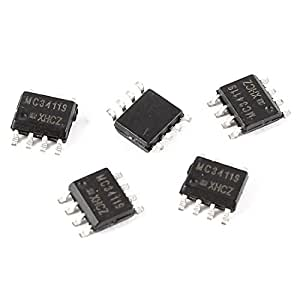 Water & Wood 5 Pcs MC34119 SMD SMT SOP-8 8 Pins Low Power Audio Amplifier IC Chip