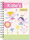 Children's Personalised Note Pad A5 Book/Jotter/Art Flower Fairy