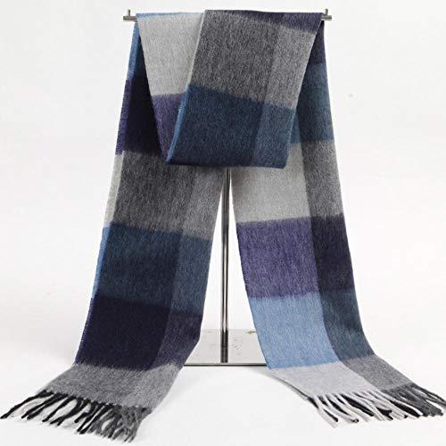 Relddd herrenschal Herren Schal Herren Herbst/Winter Check Kaschmir Schal Men es Lange Warm und kalt Schal 180x32cm Check Cashmere