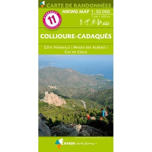 11 COLLIOURE-CADAQUES  1/50.000