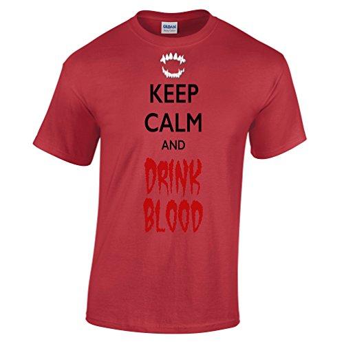 Halten Sie Ruhe und trinken Blut Halloween Scary -