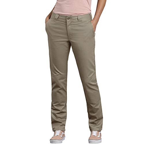 Dickies Damen Double Knee Work Pant with Stretch Twill Arbeitshose, Desert Sand, 34 -