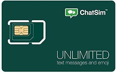 ChatSim Unlimited - Tarjeta SIM Internacional para chatear con WhatsApp y otras ChatApp en más de 150 países