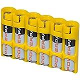PowerPax 6 AAA Battery Caddy - Caution Yellow