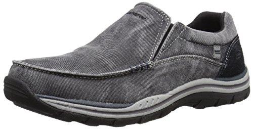 Skechers devrait Avillo Mens Casual Slip sur chaussure Black