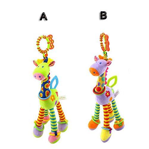 FJY Kinderwagen Plüschtiere Spielzeug aufhängen Baby-Autositz/Drehmaschine Anhänger Hängenden zur Stärkung der Eltern-Kind Bindung Kleinkindspielzeug - ab 0 Monate(2 Stücke) D002, A+B (12 Stück Voll Bett)