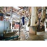 Günzburger Steigtechnik Stufen-Stehleiter - einseitig begehbar, rutschhemmend, 3 Stufen - Stehleitern Alu-Leitern Bockleitern Leitern und Tritte Alu-Stufenstehleitern Stufenleitern Stehleitern