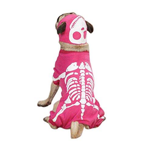 Casual Canine Pink Glow Knochen Hund Halloween-Kostüm, XL, Rose