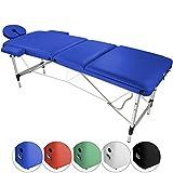 Mobile Massageliege AGILITY Alu 3 Zonen von BB Sport, Farbe:azur blau