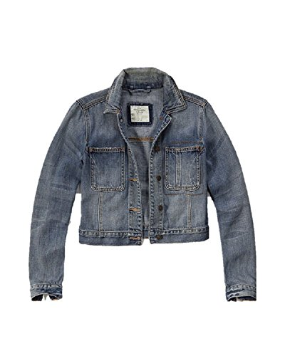 new-abercrombie-fitch-denim-jacket-blue-medium-m-women-authentic