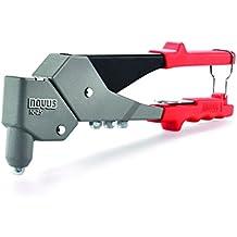 Novus Pop remaches pistola remachadora resistente remachadora N-25Vario color gris y rojo 5mm