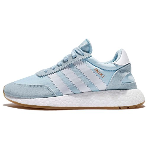adidas Damen Iniki Runner W Low-Top, Blau (Azuhie/Ftwbla/Gum3), 40 EU