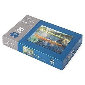 The National Gallery Renoir The Skiff (La Yole) - Puzzle de 500 Piezas, 3D, Lenticular