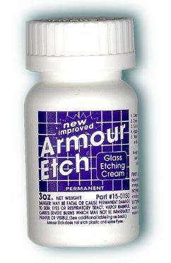 Armour - Crema de grabado para cristal y espejos es segura y fácil de usar. (Paquete de 2)