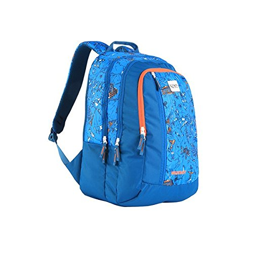 Wildcraft Polyester 43 Ltrs Blue School Backpack (Wiki 5 Doodle 3)