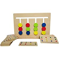 Youmiya Montessori Jeu de quatre couleurs assorties Early Childhood Education Maternelle Jouets d'apprentissage d'entraînement