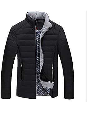 Escudo de Down chaqueta de cuello de invierno de los nuevos hombres del estilo , black , m