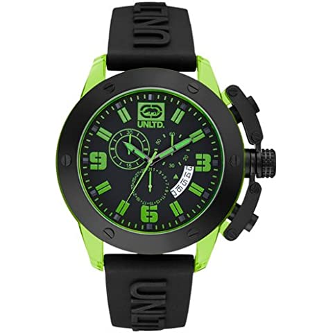 Marc Ecko E16082G2 - Reloj de pulsera hombre, silicona, color negro