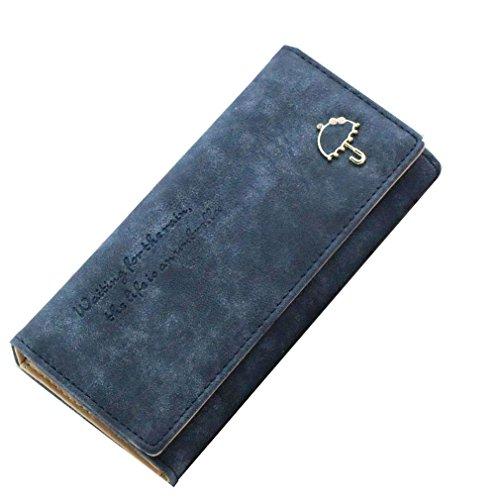 VADOOLL Damen Leder Leder Geldbörsen Lederbörsen Portemonnaies Brieftaschen Damenbörse Geldbeutel für Frauen mit Kartenfach Wildleder Veloursleder