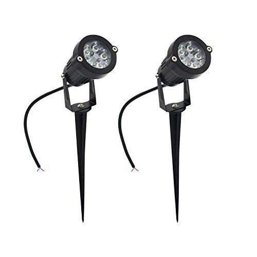 5W LED lámpara Blanco cálido con espiga de césped, luz impermeable pincho...