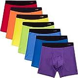 INNERSY Herren Boxershorts mit offener Fliege Stretchy Retroshorts Neuheit Soft Trunks Baumwolle Bunte Unterwäsche 7er Pack(XXL-EU 60, Rainbow Color)