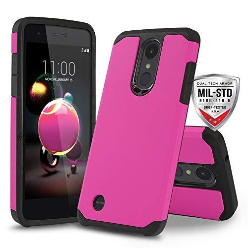 Schutzhülle für LG Optimus Zone 4 (Verizon Wireless), [DuoTEK Serie] Stoßfeste Hartschale [stoßfest] für LG Optimus Zone 4 (Verizon Wireless Prepaid-Telefon), hot pink - Prepaid-verizon-handys