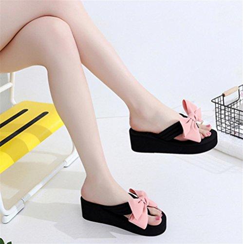 Damen Sommer Sandalen Hang Ferse Flip Fashion Clip Fuß Strand Hausschuhe 7